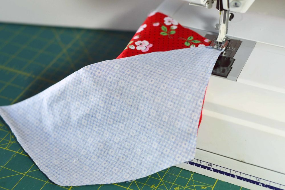 Sew two Half Hexies Sewing Machine Joanns Quilt Fabric