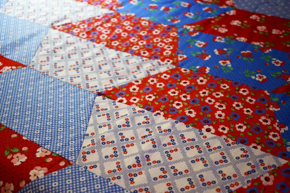 All Half Hexies Sewn Together