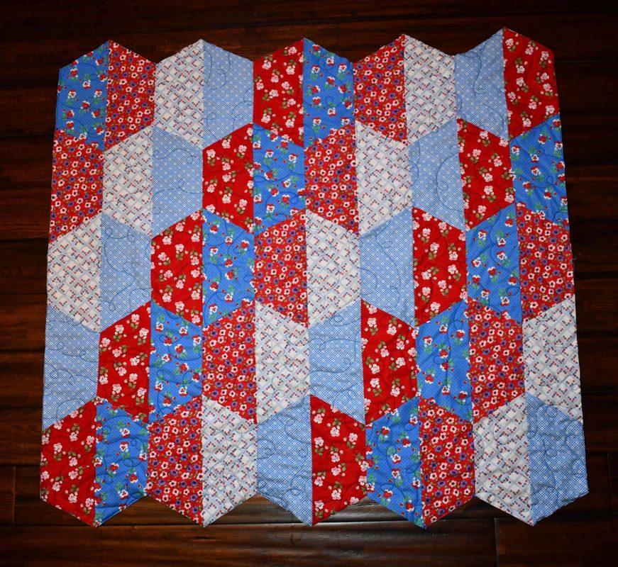 Joanns Premium Quilting Fabric 1930 Finished Quilt Cricut Half Hexie