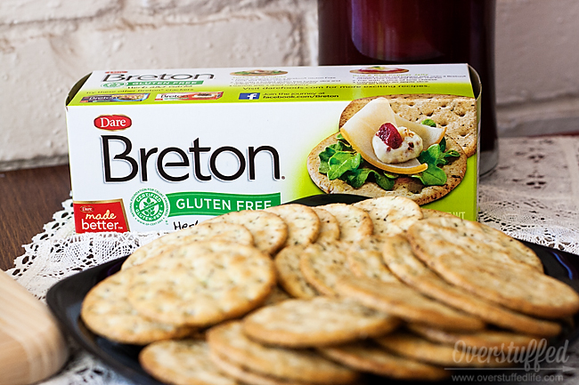 Gluten Free Breton crackers for cheese tray