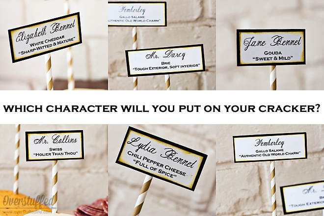 Match cheese with Pride and Prejudice characters for book club