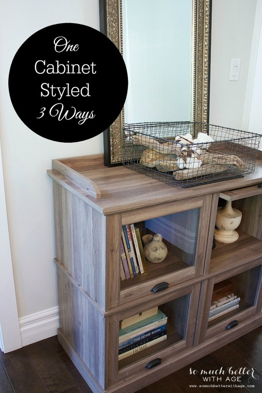 One cabinet styled three ways / cabinet and mirror - So Much Better With Age