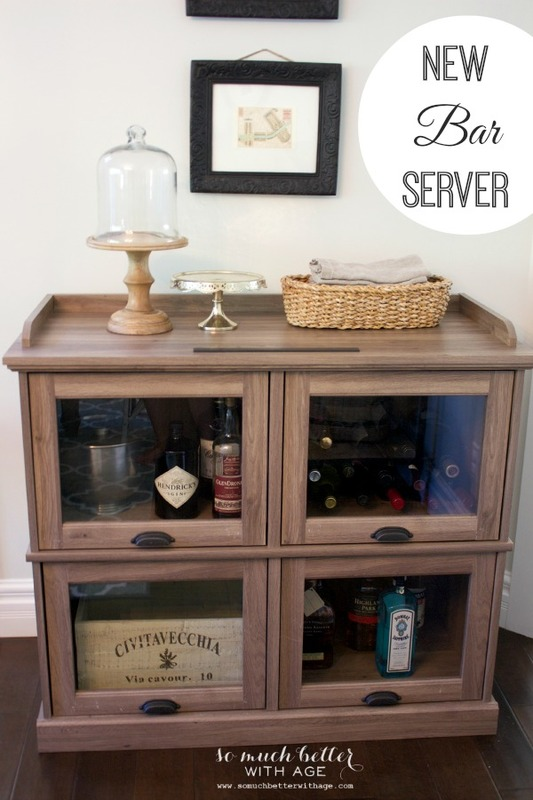 One cabinet styled three ways / bar server - So Much Better With Age
