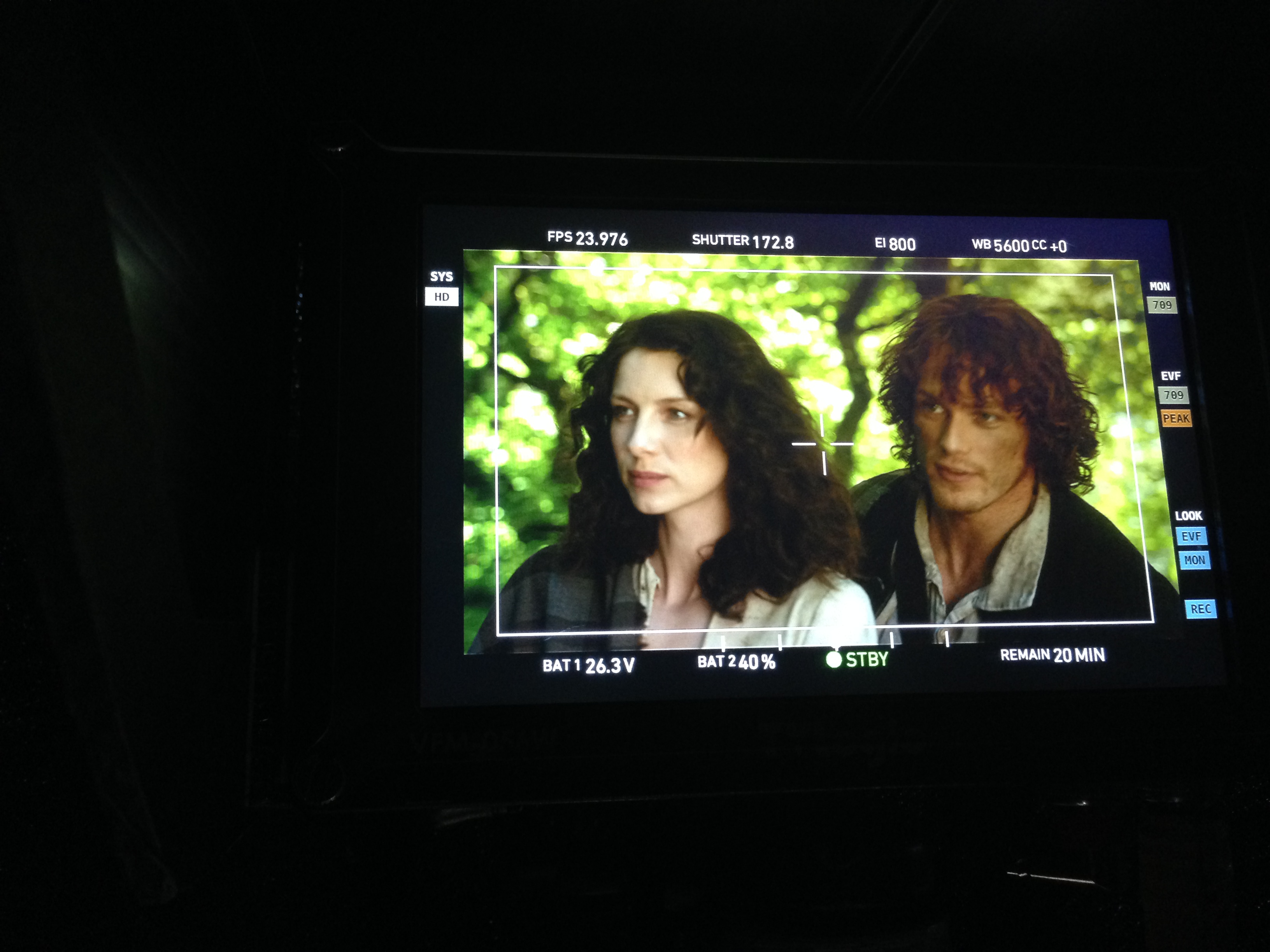 Outlander Series behind the scenes Jamie and Claire