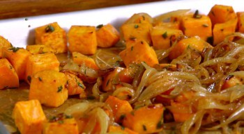 Chef Robert Irvine's Roasted Sweet Potatoes with Caramelized Onions