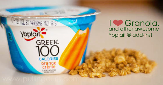 Granola is such a tasty treat when combined with your favorite flavor of yogurt!