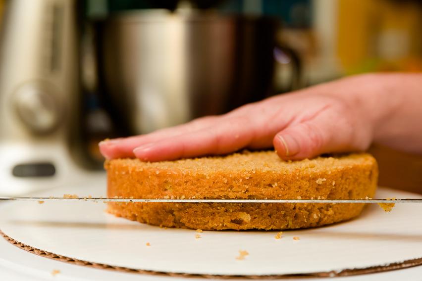 Cutting the cake in half