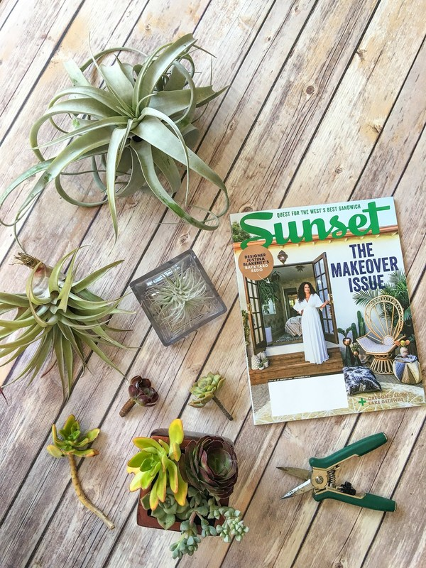 Pick up a little inspiration and motivation from a favorite magazine like Sunset.
