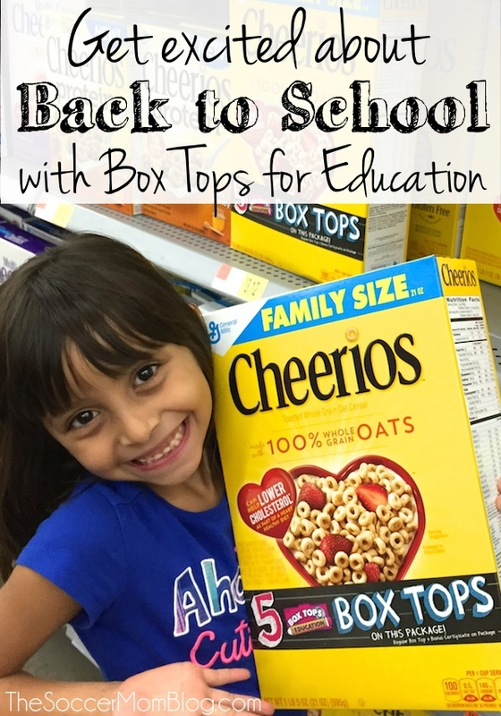 The end of Summer doesn't have to be a bummer! Here's how we get excited about back to school with Box Tops for Education. #sponsored