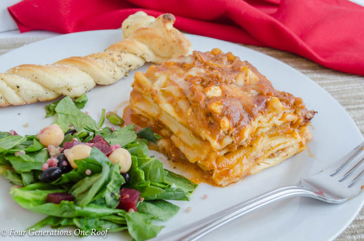 Quick Lasagna Dinner Idea during the week