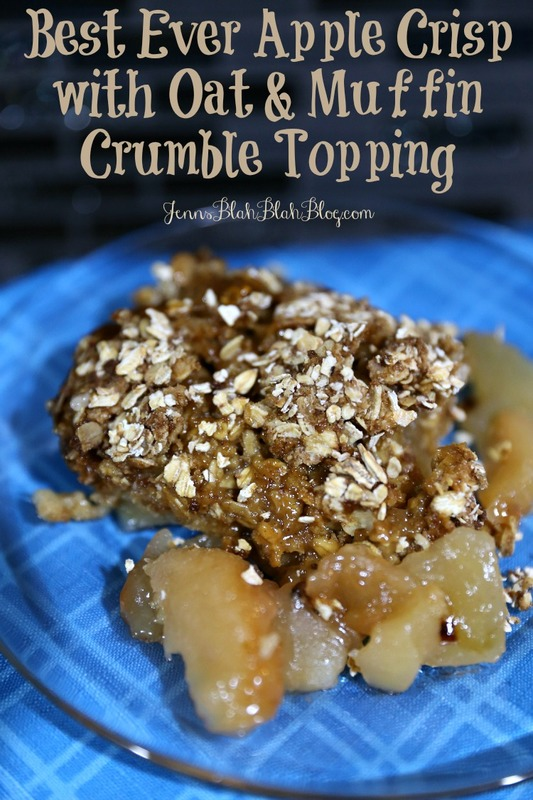 Apple Crisp Bake with Crispy Muffin Crumble Topping Recipe