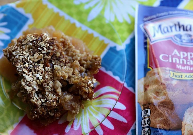 Apple Crisp with Oats Brown Sugar & Muffin Topping!