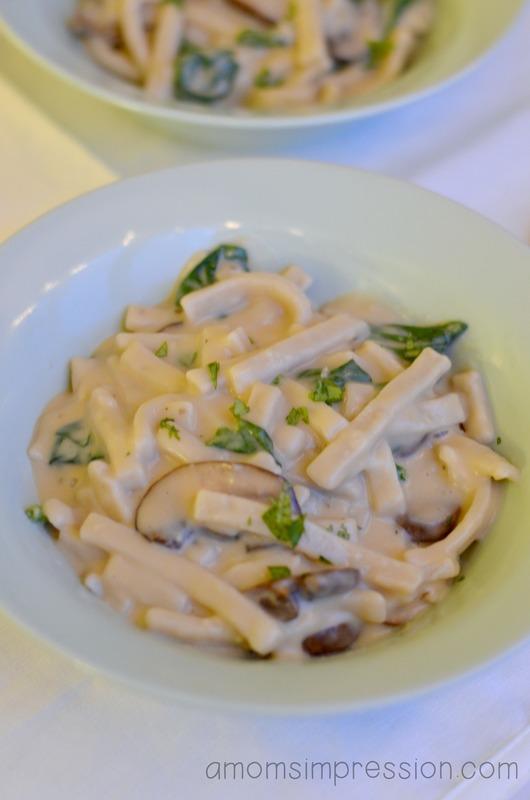 Mushroom florentine