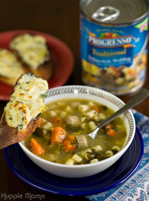 Progresso Soup and Artichoke Toast
