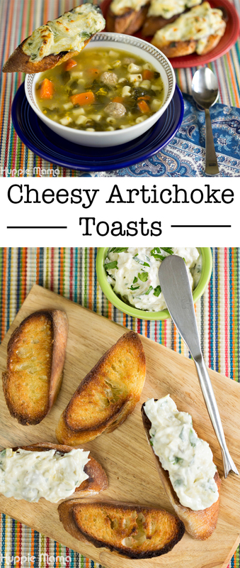 Cheesy Artichoke Toast