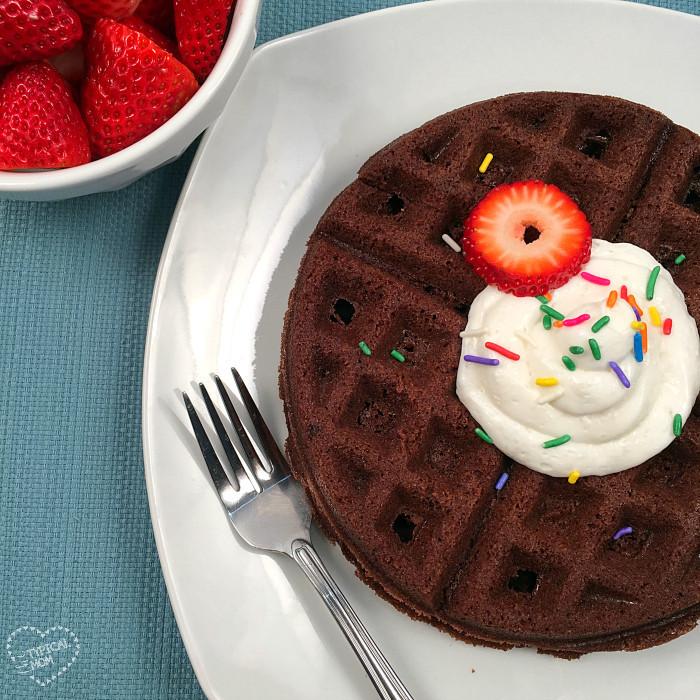 How to make brownie waffles!!