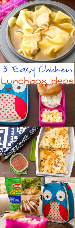 3 easy chicken lunchbox ideas