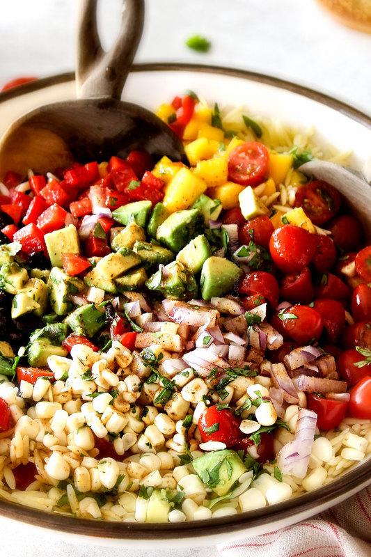 Southwest Orzo Salad With Chipotle Honey Lime Vinaigrette
