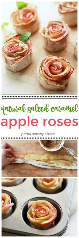 caramel apple pastry roses