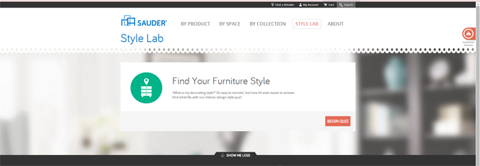 Find your Furniture Style with the Sauder Style Lab