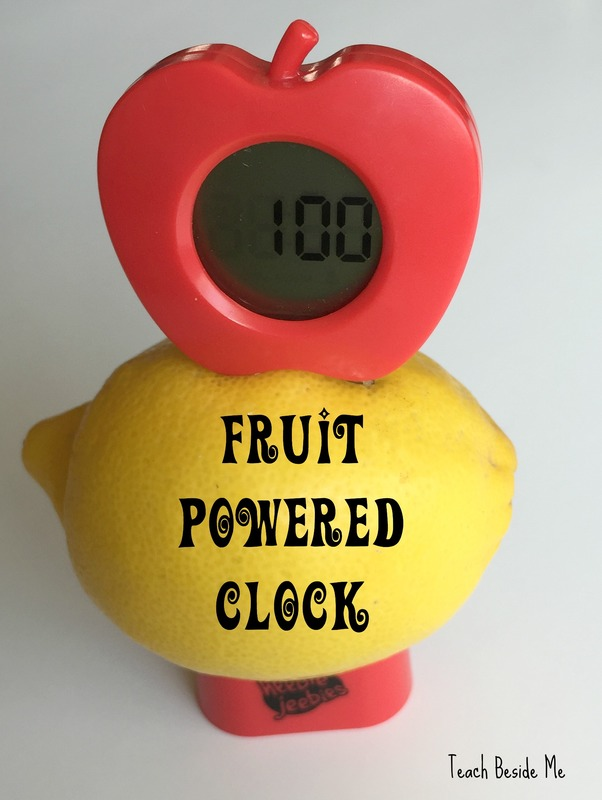 fruit powered clock
