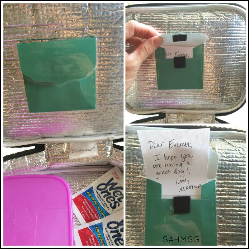 A DIY Lunch Box Notes Holder makes your child's school lunch special. It is a simple organization hack by reminding you to include a note!
