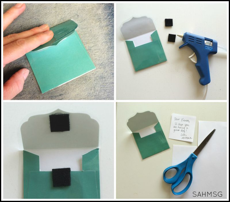 Make a DIY lunch box notes holder as a special way to send lunch box notes in your child's lunch.