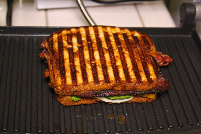 Easy Bacon, Avocado, & Cheese Panini Recipe-Step-6