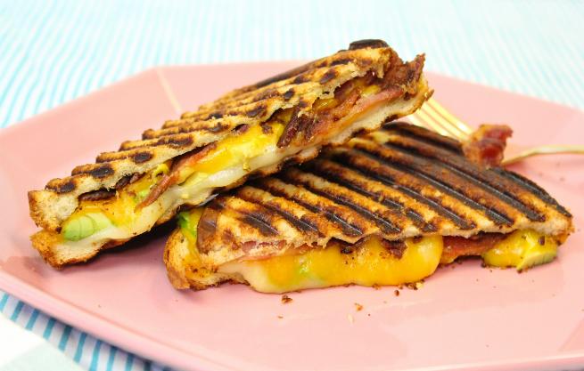 Bacon, Avocado, Cheese Panini Recipe