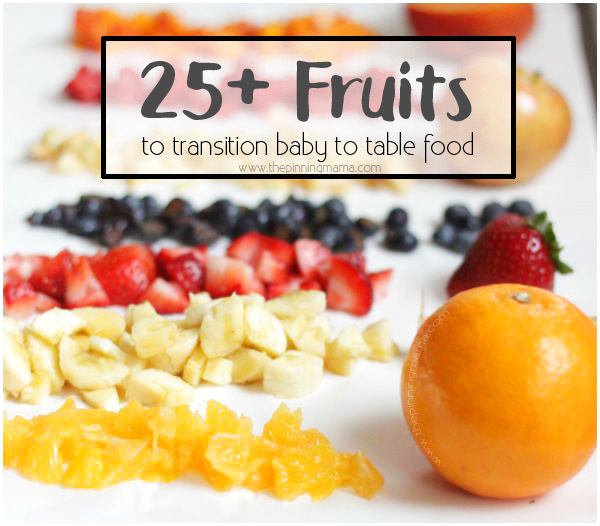 A ton of fruits you can use for baby finger foods and how to prep!