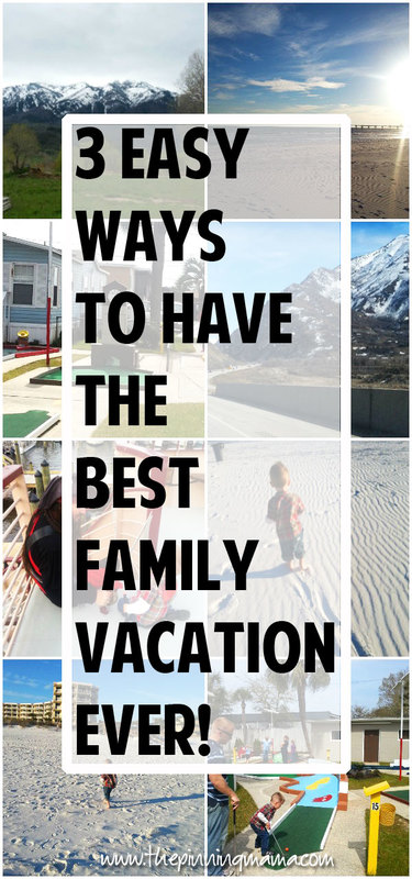 These 3 tips are GENIUS! Simple ways to have the BEST FAMILY VACATION EVER! Whether you are camping, going to the beach, hiking in the mountains, going to Disney, or spending a week at the lake these make everything more fun for kids!