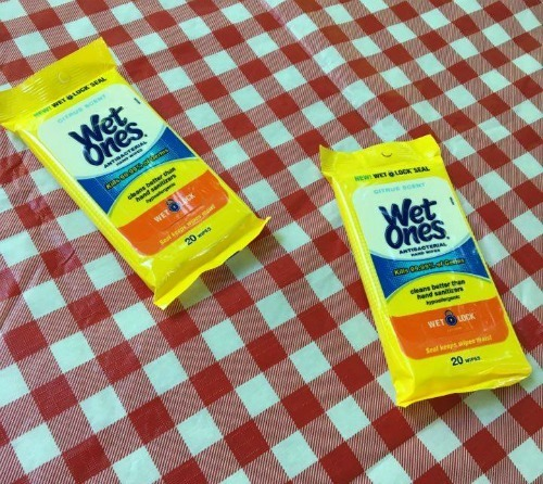 Mom\'s Summer Survival Must Have including Wet Ones to help with messy cleanups!