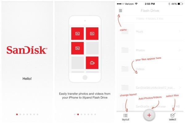 SanDisk iXpand App