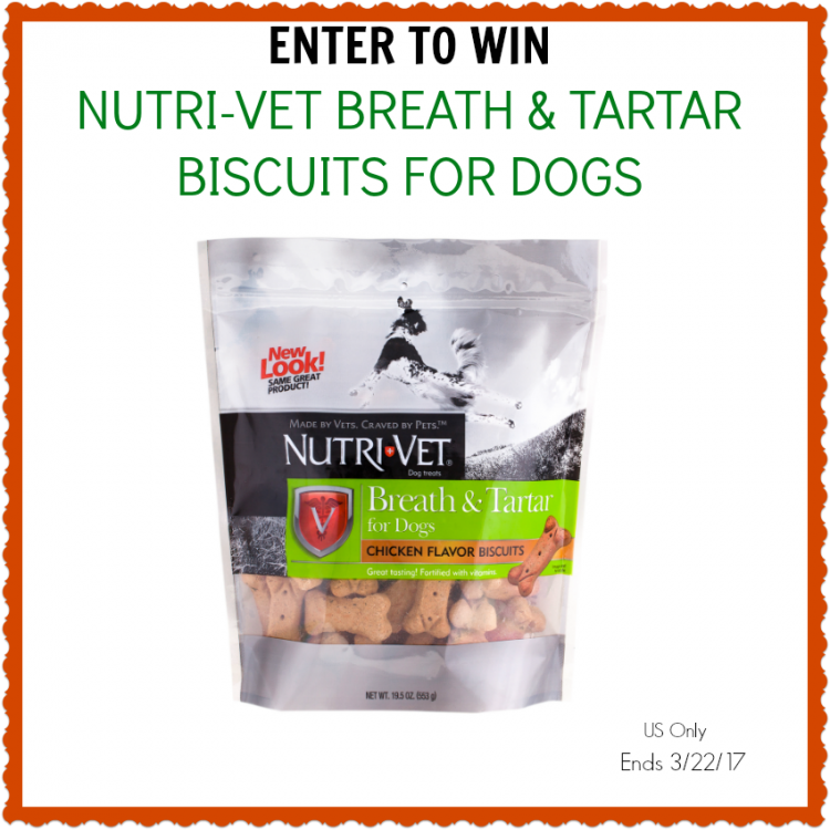 Freshen Your Pets Breath with Nutri-Vet Breath & Tartar Biscuits for Dogs #Giveaway #NutriVet
