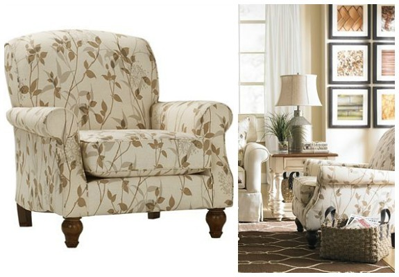 Havertys Furniture Nature Inspired Amelie Accent Chair