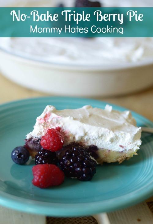 No-Bake Triple Berry Pie #FruitandHoney #Walmart #ad