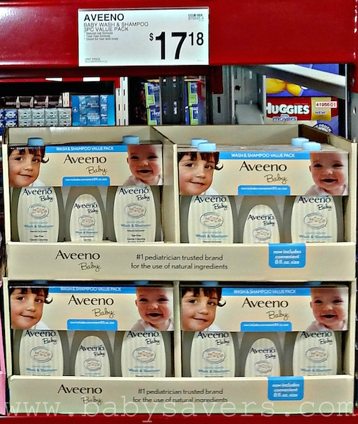 how much is aveeno baby wash at sam's club