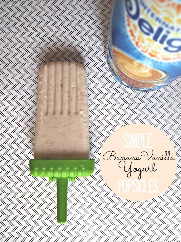 Simple Banana Vanilla Yogurt Popsicles