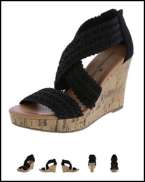 Payless Oasis High Wedge Sandals