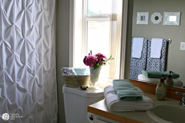 $110 Bathroom Update   Update and makeover your bathroom inexpensively. Bathroom Decorating ideas and more. on TodaysCreativeLife.com