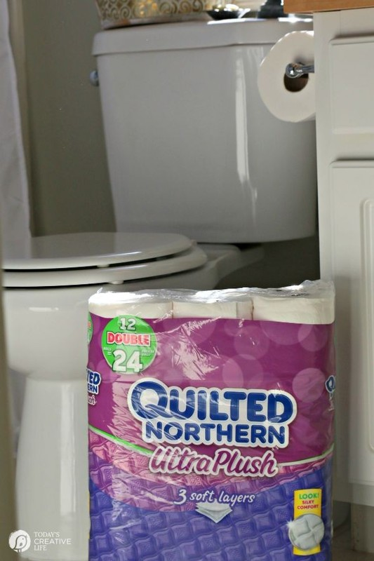 What's Forgotten in your Bathroom? | Quilted Northern® | TodaysCreativeLife.com