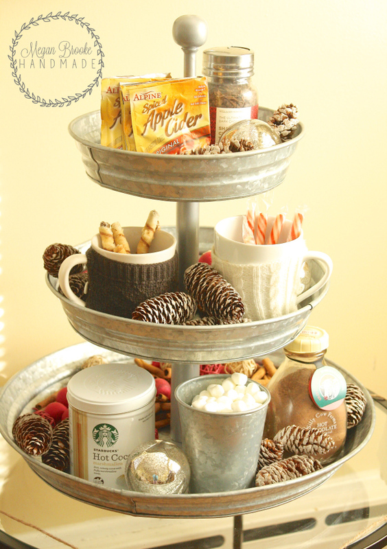Using Side Table as Hot Chocolate Station
