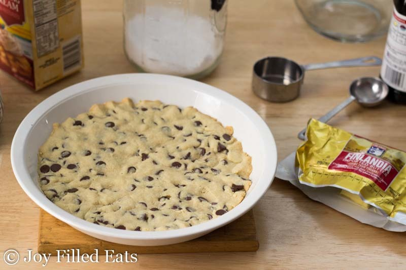Chocolate Chip Pie - Low Carb, Grain & Sugar Free, THM S