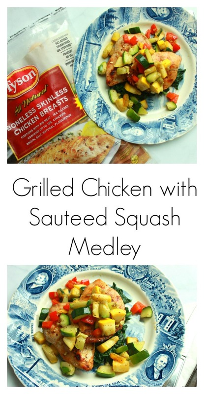 Grilled Chicken with Sauteed Squash Medley