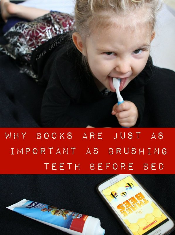 why books are just as important as brushing teeth