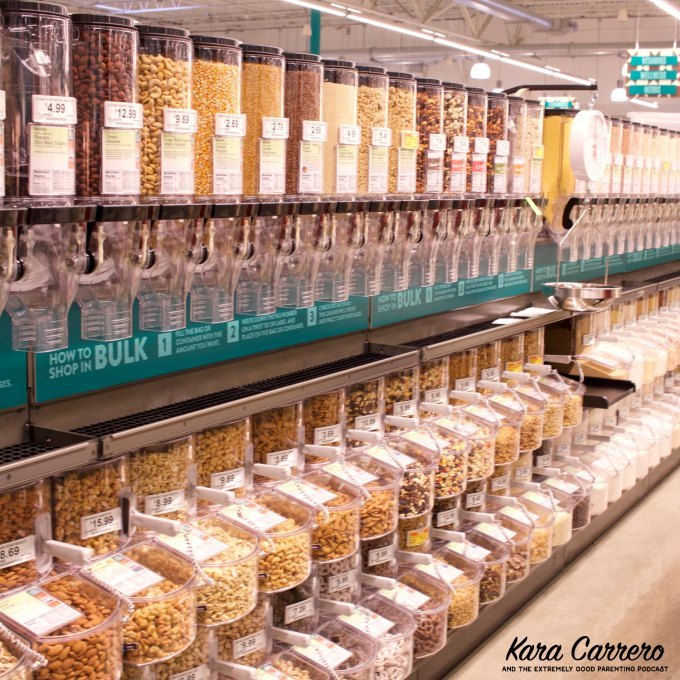 Buying bulk food at whole foods market