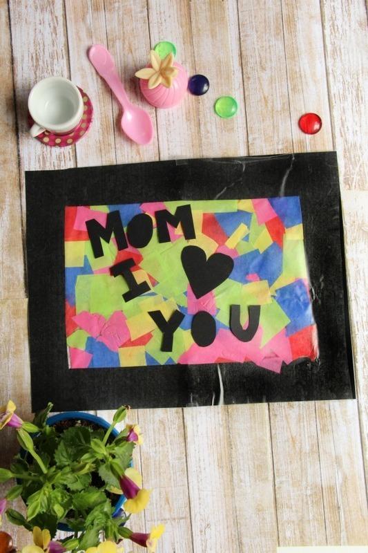 "Stunning  ""I Love You Mom"" Suncatcher Craft"