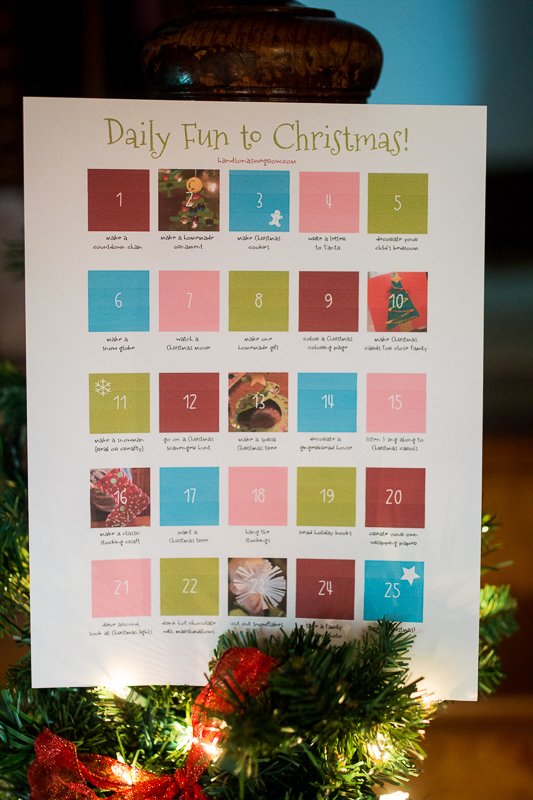 Simple & Easy Christmas Activity Countdown