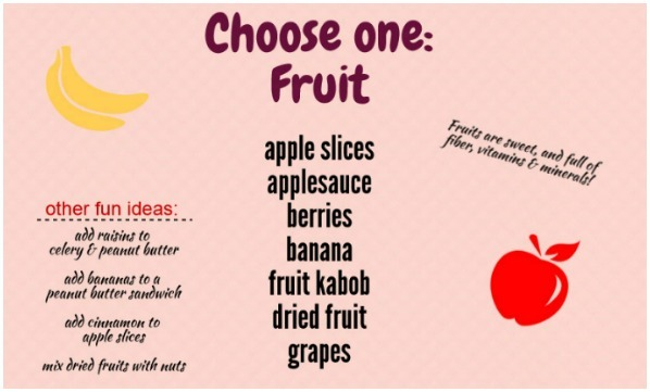 Choose one fruit for your lunchbox