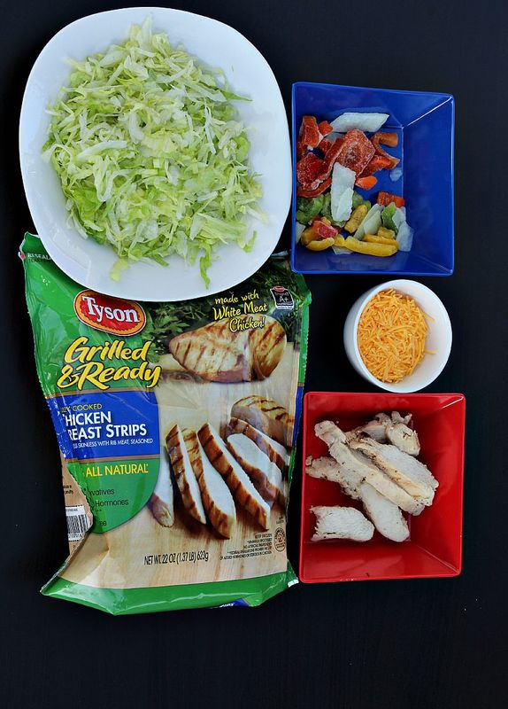 easy Fajita Chicken Salad Ingredients